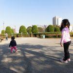 子供と公園、そして自転車。